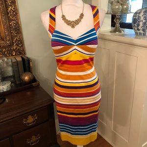 Calvin Klein Striped Sundress Sheath Dress